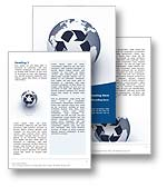 The Recycling Word Template in blue shows a 3D illustration of the earth with the ISO international symbol for recycling superimposed upon it. The Recycling Microsoft Word Template is the perfect Word Template Design to compliment the Recycling PowerPoint Template and is the ideal Word Template for any landfill report, global warming publication, air pollution paper, rubbish document, reduce consumption review, recycle waste journal, energy brochure or recycling newsletter.