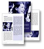 The graduation word template in blue shows a new college graduate with her college diploma and is perfect for any university, college education, college degree, graduation document, report, and publication.