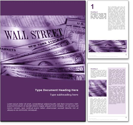 Wall Street word template document