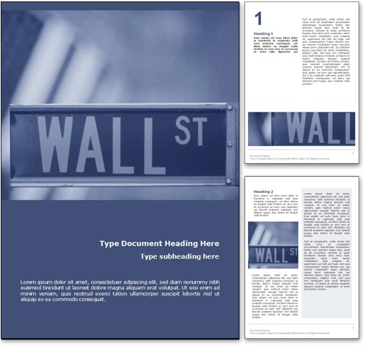 Wall Street NY word template document