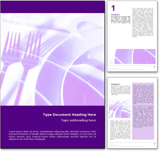 Table Setting word template document