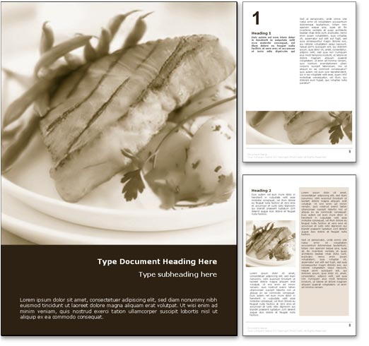 Gourmet Fish Dish word template document