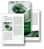 The Herbal Tea Word template in green shows a cup of therapeutic fragrant herbal tea filled with antioxidants. The Herbal Tea ms word template is the perfect Microsoft Word template for any tea, tisane, ptisan, herbal infusion,  stimulant, relaxant, teacup, tea shop, green tea, white tea, Chinese tea, Japanese tea, health report, alternative medicine document, or herbal tea publication.