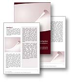 The abstract curl word template in red shows an abstract curl which resembles the curling fold of a sheet of paper. The abstract curl word template is ideal for any general word document, generic report, or publication subject. 