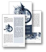 The abstract art word template in blue shows an explosion of abstract shapes, spirals, circles, and forms. The abstract art microsoft word template is a creative and artistic template which is perfect for any general report and is suitable for any document where the author requires high impact visuals which are open to creative and artistic publication themes and topics.