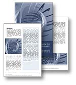 The Abstract Spiral Word template in blue shows a series of 3d rendered spirals with blurs and shading designed to create dynamism, energy, and effect. The Abstract Spiral Word document template is ideal for any news report, press release document or general publication topic or theme.