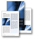 The Abstract Silk Word template in blue is an abstract design that is subtle and ambiguous and is the perfect Microsoft Word document template for any MS Word document, report or publication.