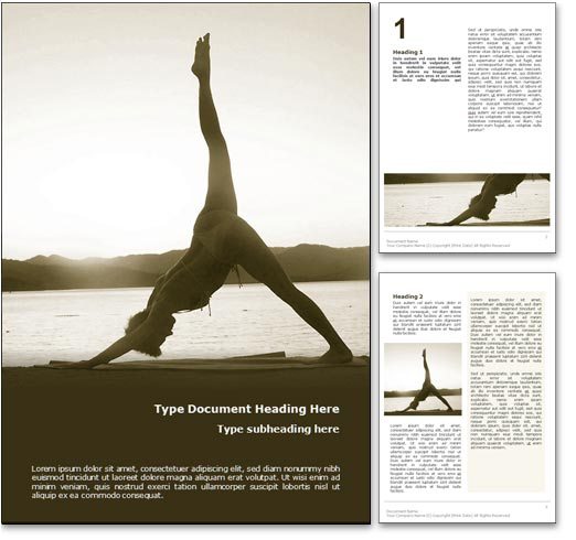 Asanas word template document