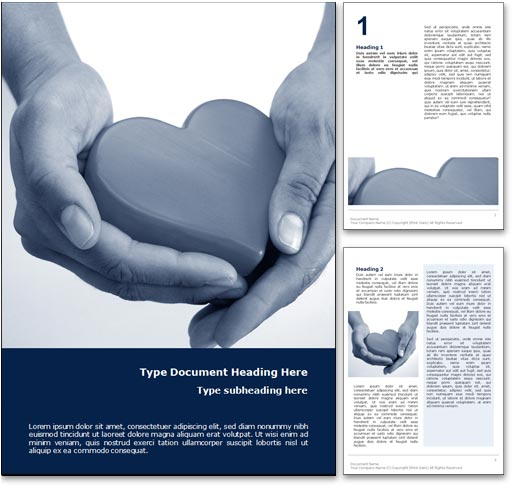 Healthy Heart word template document