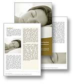 The Sleep Word template in yellow shows a woman sleeping as she rests and dreams in her bed. The Sleep Word template is the perfect Microsoft Word template for any dreaming, sleeping, resting, exhaustion, insomnia or sleep publication.