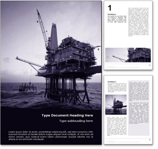 Offshore Oil word template document