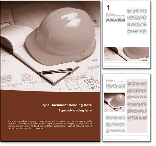 Construction word template document