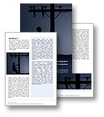 The electrician word template in blue shows an electrician climbing a utility pole to correct problems with a transformer or power supply to local residence on the national grid. The electrician microsoft word template is the perfect word template design for any electricity report, power document, national grid annual report or electrician publication.