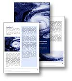The hurriance weather word template shows a hurricane weather storm and is perfect for any global warming, tornado, and hurricane publications, documents and reports.
