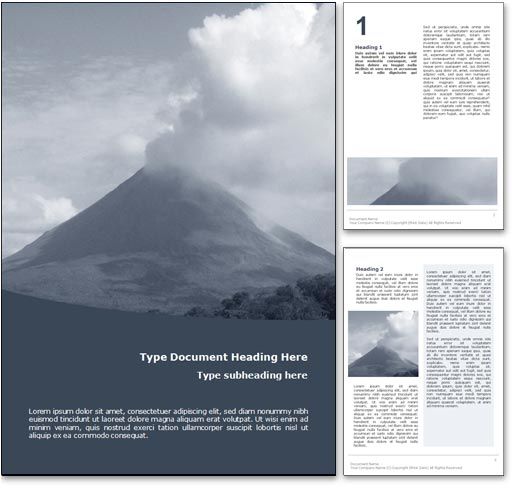 Volcano word template document