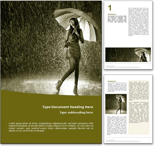 Rain word template document