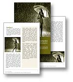The Rain Word Template in yellow shows a woman holding an umbrella protecting herself from the rain shower. The Rain Word Template design is the perfect Microsoft Word document template for any rain shower, rainfall, storm, meteorology document, precipitation review, rain publication, umbrella brochure or weather report.