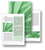 The abstract leaves word template in green shows an abstract array of long leaves and is perfect for any nature, vegetation, rain forest, or natural world publication.
