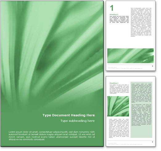 Abstract Leaves word template document