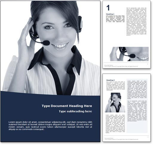 Customer Service word template document