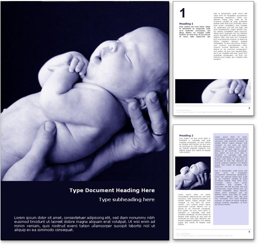New Born Baby word template document