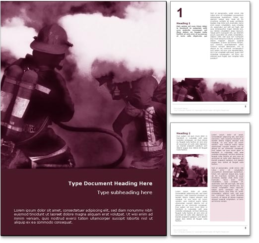 Firefighters word template document
