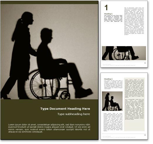 Wheelchair word template document