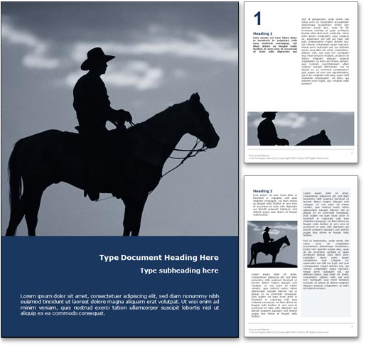 Cowboy word template document