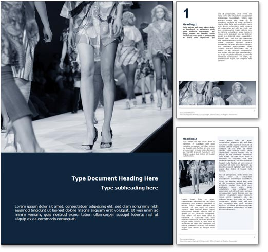Fashion word template document
