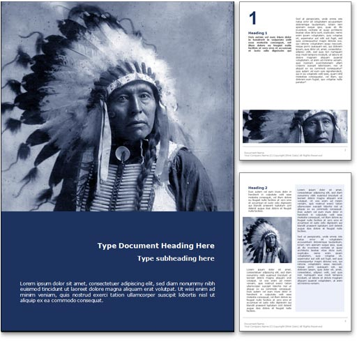 Native American word template document