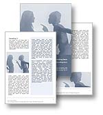 The abuse word template in blue shows a woman being abused and harassed by another woman appearing to shout, point and accuse. The abuse microsoft word document template is the perfect word template for any discrimination, bullying report, harassment publication, emotional abuse document, violent abuse review or workplace abuse brochure.