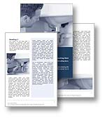 The Plumber Word Template in blue shows a plumber with his wrench tightening a leaking pipe fitting beneath a bathroom sink. The Microsoft Word Plumber Template is the perfect Word Template for any home insurance document, plumbing services review, plumbing report, plumbers publication, plumber brochure or do it yourself newsletter.