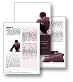 The Bully Word Template Design in red shows a teenage victim of bullying, sitting isolated and alone unable to escape the anxiety of bullying. The Bully Word template is the perfect Microsoft Word Template for any bully, anti bullying, bullying publication, victim of bullying document, bullying at school report, or stop bullying brochure.