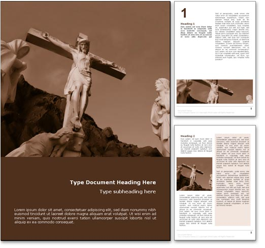 Christianity Jesus word template document