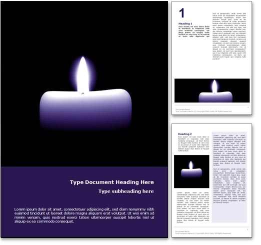 Prayer word template document