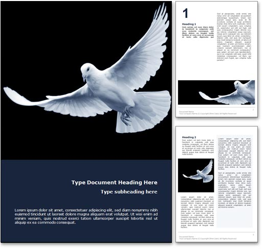 Peace word template document