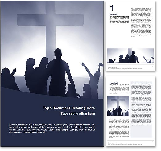Worship word template document