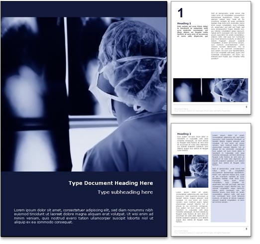 Doctor Examining X-Rays word template document