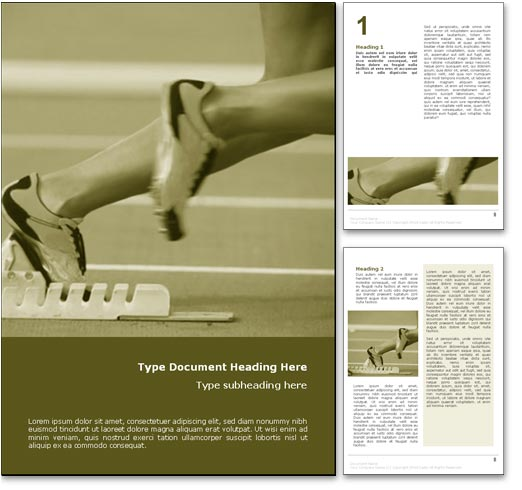 Track and Field Athletics word template document