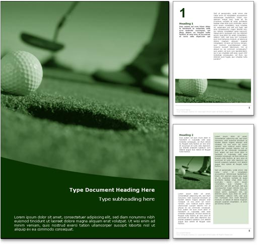 Perfect Golf Putt word template document