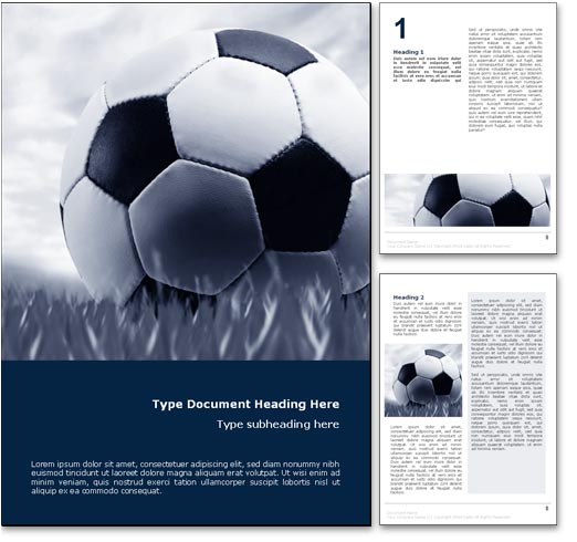 Soccer word template document