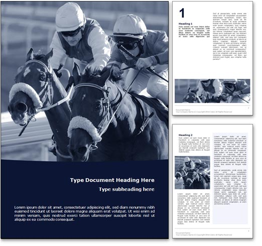 Horse Racing word template document