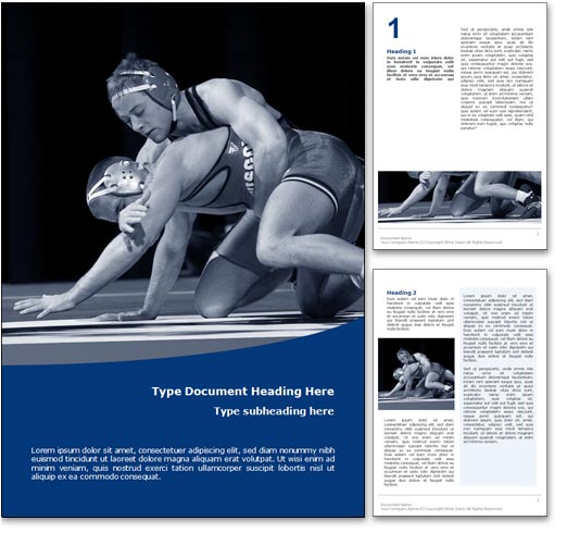 Wrestling word template document