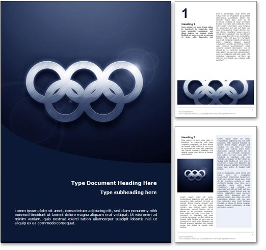 Olympics word template document