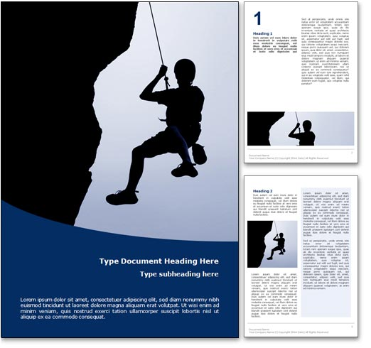Rock Climbing word template document