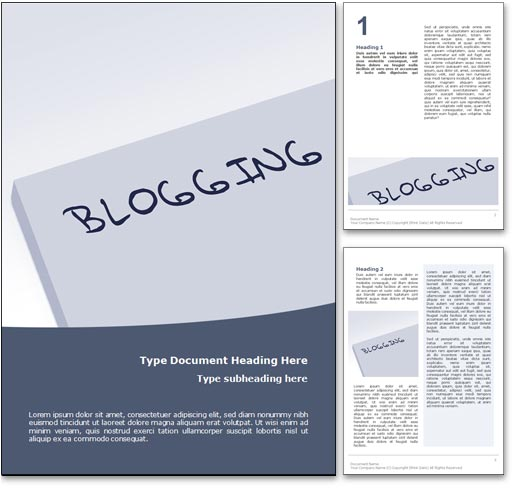 Blogging word template document