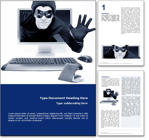 Cyber Crime word template document