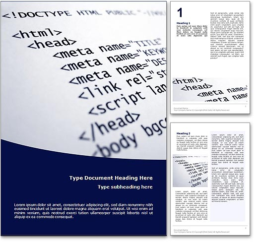 HTML word template document