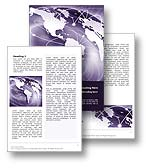 The Telecommunications Word Template in purple shows shows network and transmission hotposts carrying data and broacasting digital information from country to country and across the globe. The Telecommunications Word Template is the perfect Microsoft Word Template for every videoconferencing document, telecom annual report, fiber optics publication, radio book, telephony white paper, internet pdf, cellular networks review, network report, wireless telecommunications brochure, digital communication magazine, telecommunications newsletter.