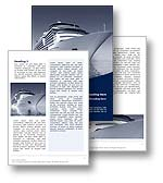 The Cruise Word template in blue for Microsoft Word shows a cruiseliner carrying holiday passengers. The Cruise MS Word template is the ideal Office template for any holiday, cruise, ocean, vacation, tourist industry documents, tourism reports and travel publications.